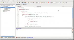 MonoDevelop running C# 3.5 code